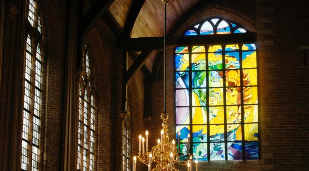 Gebrandschilderd raam Annemiek Punt Nieuwe kerk Delft