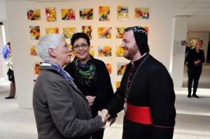 Ook de Aartsbisschop van de Syrisch Orthodoxe Kerk vereerde Annemiek met zijn bezoek.