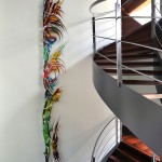 13-delig wandkunstwerk | Atelier Galerie Annemiek Punt Ootmarsum, Glaskunst en Schilderkunst