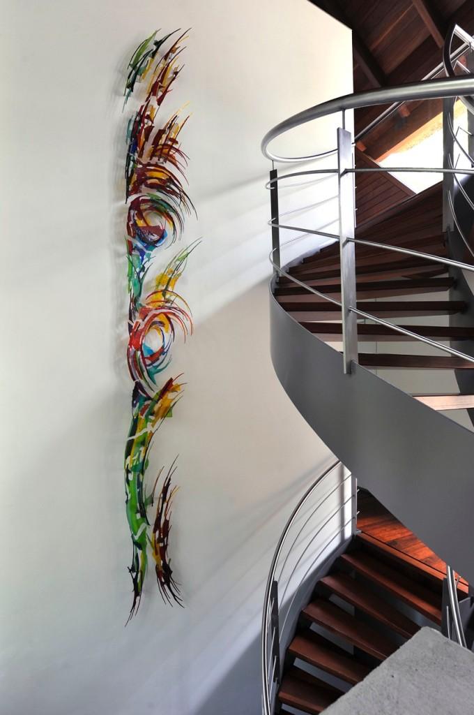 13-delig wandkunstwerk | Atelier Galerie Annemiek Punt Ootmarsum Glas Kunst