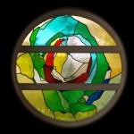 Glas-in-loodraam voor 'Het Brandpunt' Amersfoort | Atelier Galerie Annemiek Punt Ootmarsum, Glaskunst en Schilderkunst