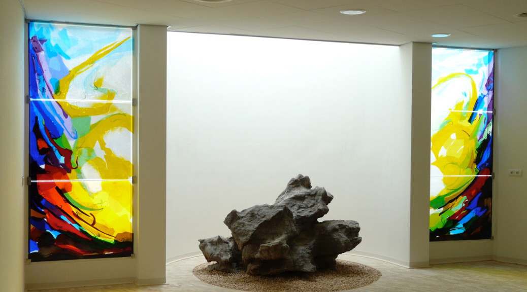 Stiltecentrum Rivierenland Ziekenhuis Tiel | Atelier Galerie Annemiek Punt Ootmarsum, Glaskunst en Schilderkunst