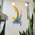 Wandkunstwerk in het Waterschapkantoor in Apeldoorn | Atelier Galerie Annemiek Punt Ootmarsum, Glaskunst en Schilderkunst