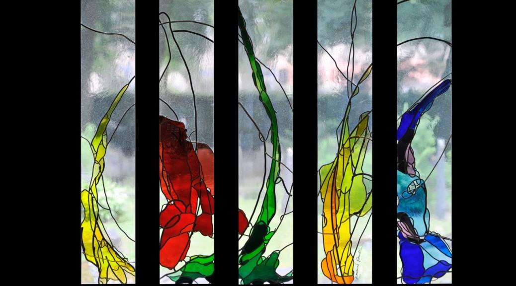 Glas-in-loodramen Aula Deugenweerd in Borculo
