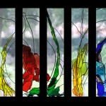 Glas-in-loodramen Aula Deugenweerd in Borculo | Atelier Galerie Annemiek Punt Ootmarsumv
