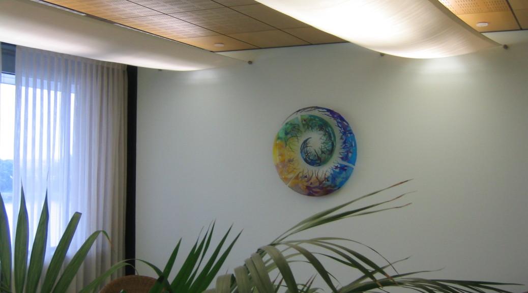 Wandkunstwerk in het Provinciehuis Brabant