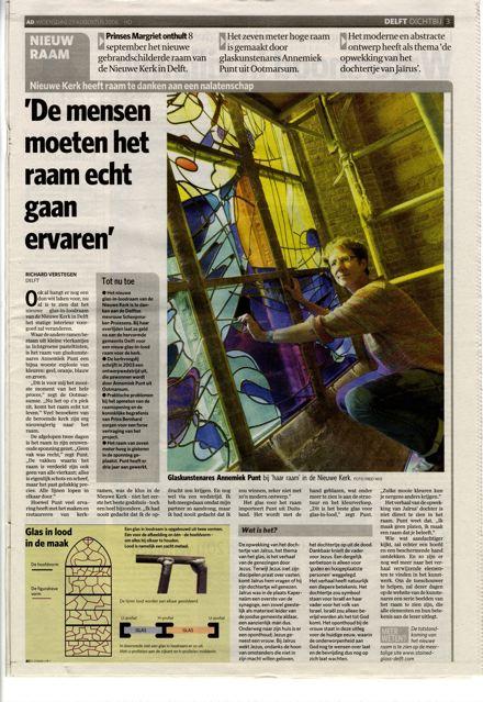 'De mensen moeten het raam echt gaan ervaren' | Atelier Galerie Annemiek Punt Ootmarsum Glas & Schilder Kunst