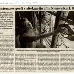 'Kunstenares geeft visitekaartje af in Nieuwe Kerk Delft'