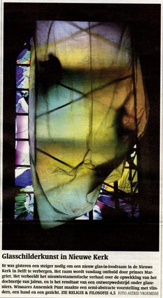 'Glasschilderkunst in Nieuwe Kerk' | Atelier Galerie Annemiek Punt Ootmarsum Glas & Schilder Kunst