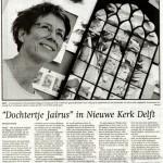 'Dochtertje Jaïrus in Nieuwe Kerk Delft'