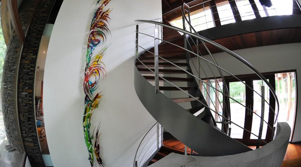 13-delig wandkunstwerk | Atelier Galerie Annemiek Punt Ootmarsum Glas & Schilder Kunst