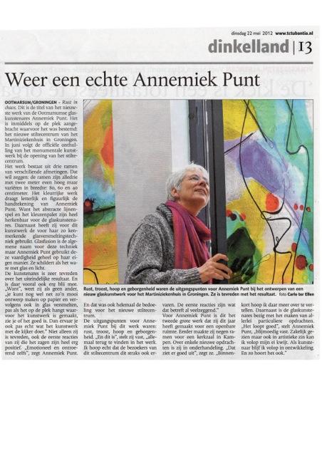 'Weer een echte Annemiek Punt' | Atelier Galerie Annemiek Punt Ootmarsum Glas & Schilder Kunst