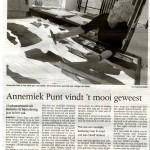 'Annemiek Punt vindt 't mooi geweest'