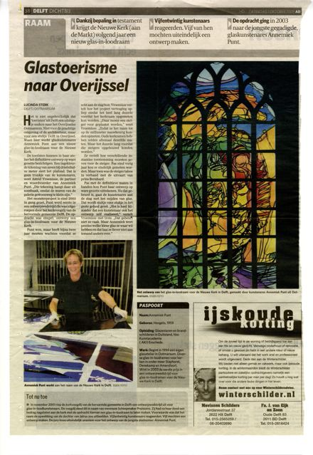 'Glastoerisme naar Overijssel' | Atelier Galerie Annemiek Punt Ootmarsum Glas & Schilder Kunst