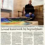 'Levend kunstwerk bij begraafplaats'