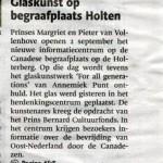'Glaskunst op begraafplaats Holten'