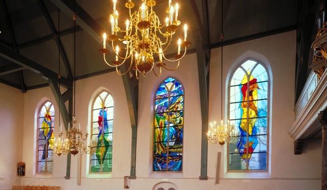 Grote- of Johanneskerk Lekkerkerk | Atelier Galerie Annemiek Punt Ootmarsum Glas & Schilder Kunst