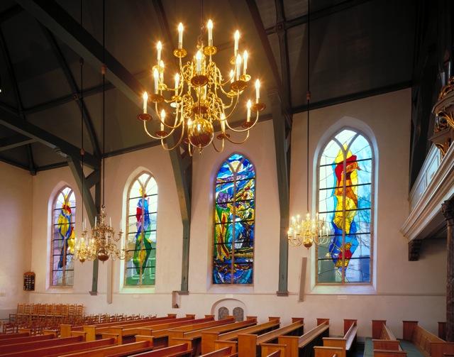 Grote- of Johanneskerk Lekkerkerk | Atelier Galerie Annemiek Punt Ootmarsum, Glaskunst en Schilderkunst