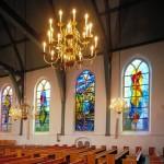Grote- of Johanneskerk in Lekkerkerk | Atelier Galerie Annemiek Punt Ootmarsum, Glaskunst en Schilderkunst