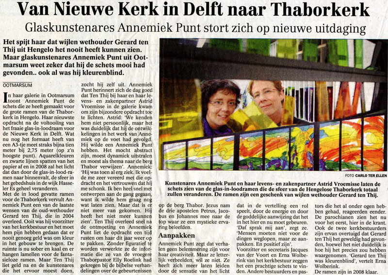 'Van Nieuwe Kerk in Delft naar Thaborkerk'