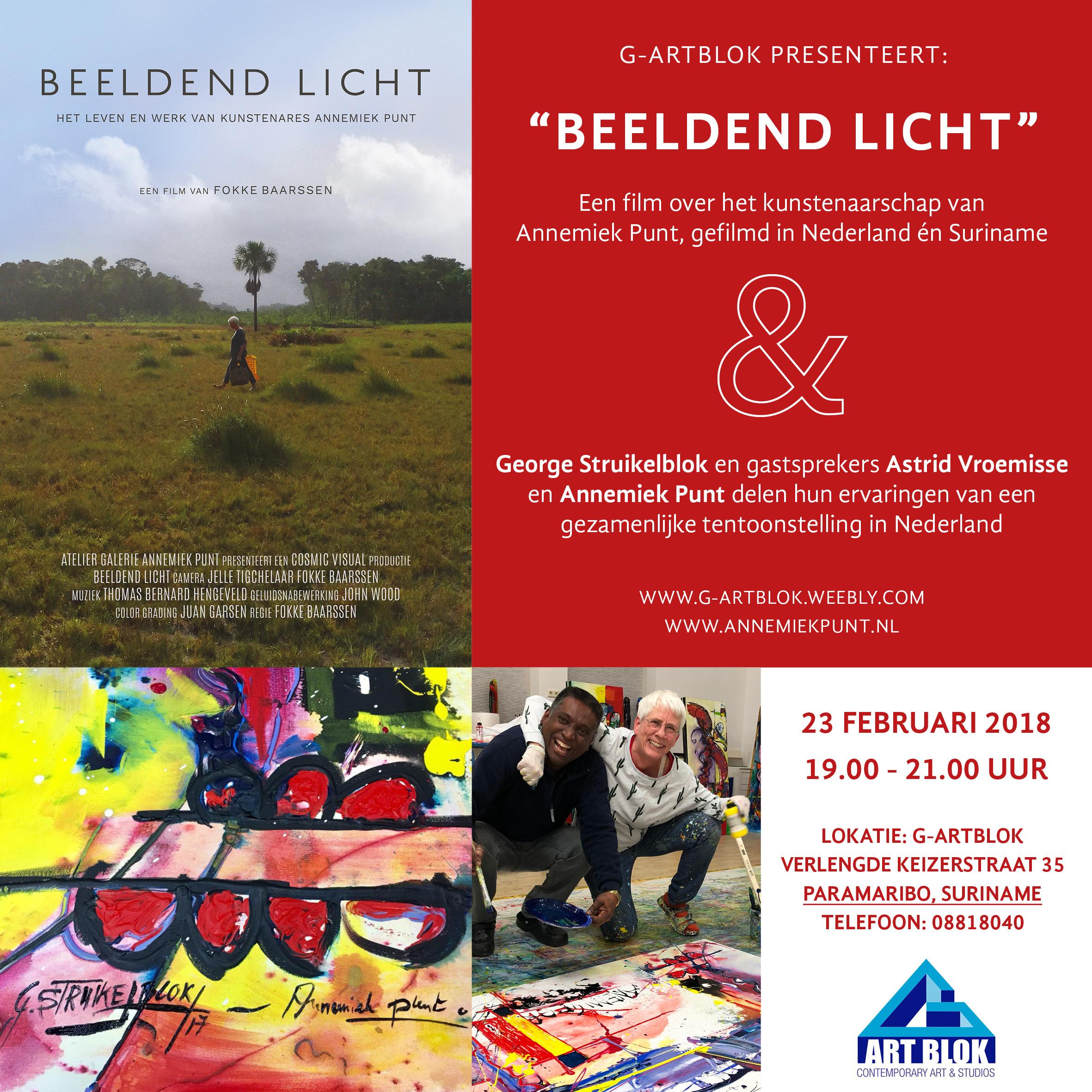 Uitnodiging Beeldend Licht Suriname
