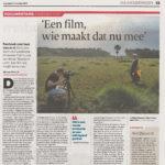 'Een film, wie maakt dat nu mee'