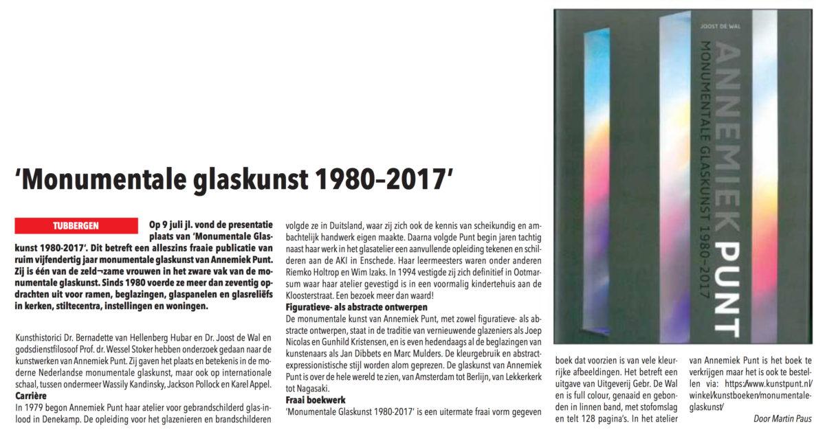 'Monumentale Glaskunst 1980-2017'