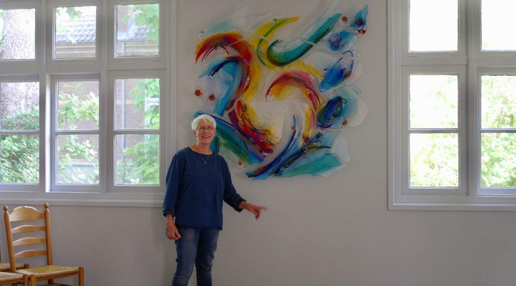 Glaskunstwerk van Annemiek Punt in de Dorpskerk in Hoogvliet | Atelier Galerie Annemiek Punt in Ootmarsum, Glaskunst en Schilderkunst