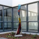 Glaskunstwerk van Annemiek Punt in De Drie Ranken in Apeldoorn | Atelier Galerie Annemiek Punt in Ootmarsum, Glaskunst en Schilderkunst