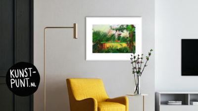 Giclée 'Twents Landschap' van Annemiek Punt | Atelier Galerie Annemiek Punt in Ootmarsum | zie ook onze online galerie www.kunst-punt.nl