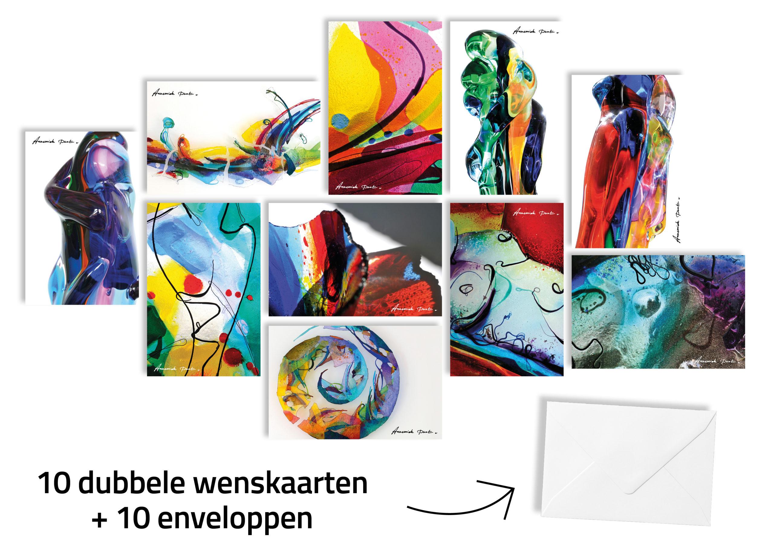 Glaskunst wenskaarten | Atelier Galerie Annemiek Punt in Ootmarsum | zie ook onze online galerie www.kunst-punt.nl