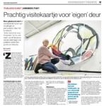 'Prachtig visitekaartje voor eigen deur' | Atelier Galerie Annemiek Punt Ootmarsum, Glaskunst en Schilderkunst